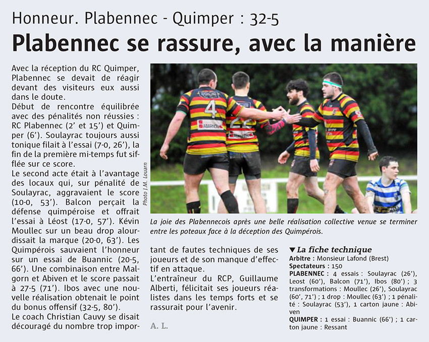 Rugby Plabennec Quimper